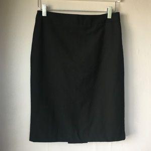 ANN TAYLOR Factory Black Pencil Skirt Sz 2